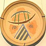 Борис Чернышев. Африканский алфавит. Серия декоративных тарелок (керамика)