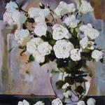 Белые розы. 60х80, холст, масло, 2010