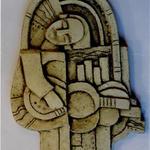 Рельеф «Музыка», 1998. Шамот, оксиды