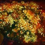 Желтые ромашки, 50х60, холст, масло, 2011