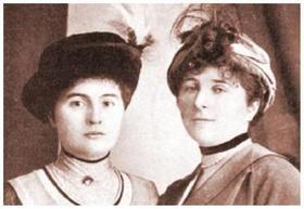 С баронессой Буксгевден (Анастасия на снимке - слева)