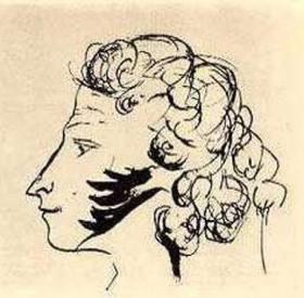 Автопортрет на листе, вклеенном в альбом Е.Н. Ушаковой. 1829