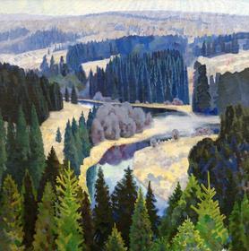 А.Т. Бердюгин. За синими лесами, 2008, х., м.