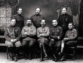 На фото: чины штаба 3-го стрелкового корпуса