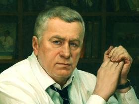 Портрет Жириновского работы И.В. Белковского (фрагмент)