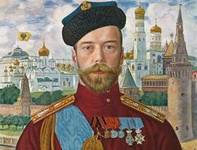 """Борис Кустодиев, """"Царь Николай II"""", 1915"""