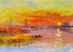 Джозеф Тёрнер. Город и река на закате
